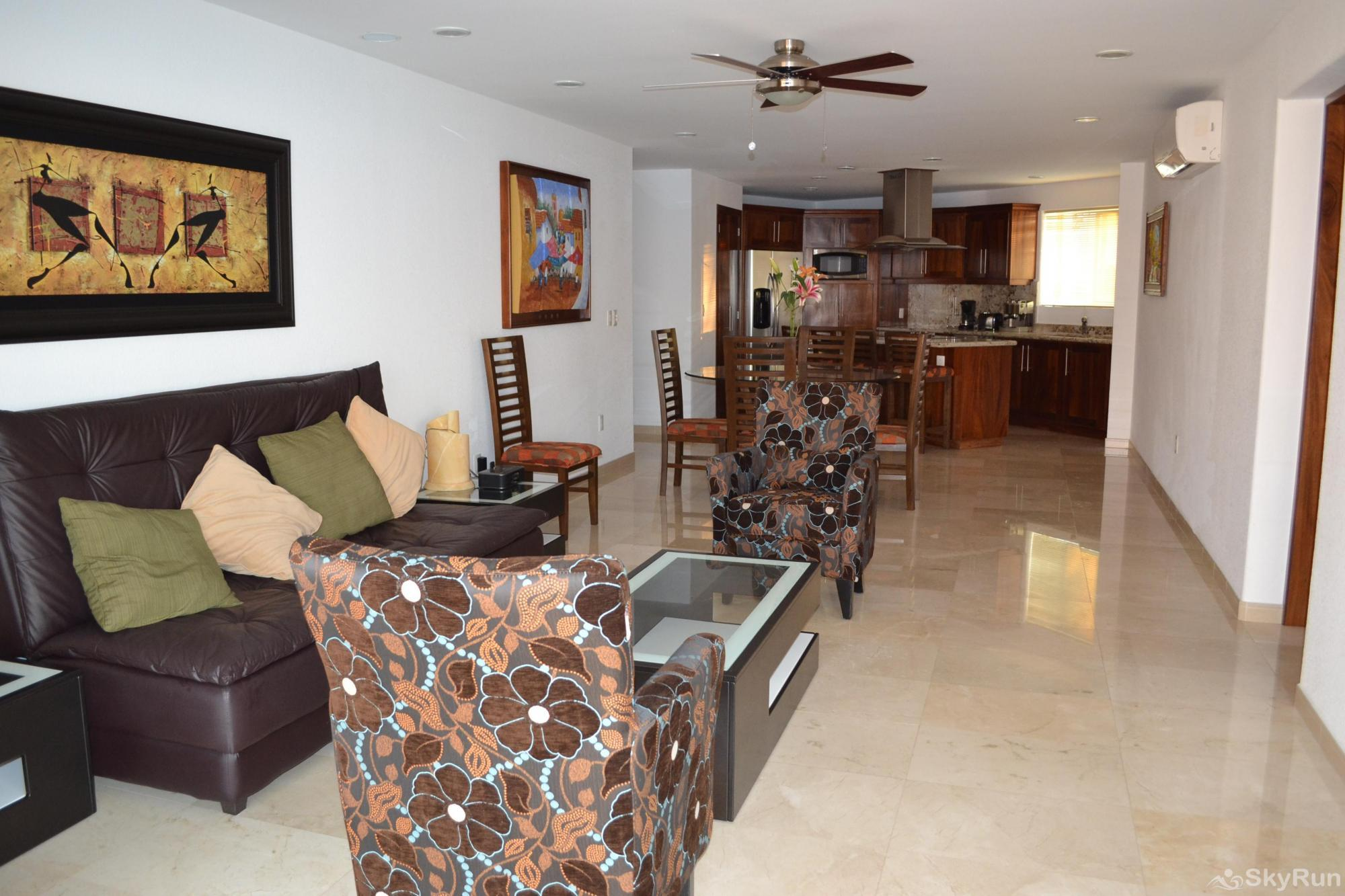 Spectacular Ocean View 1br with Outdoor Pool, balcony!  PV at it's finest Living Room