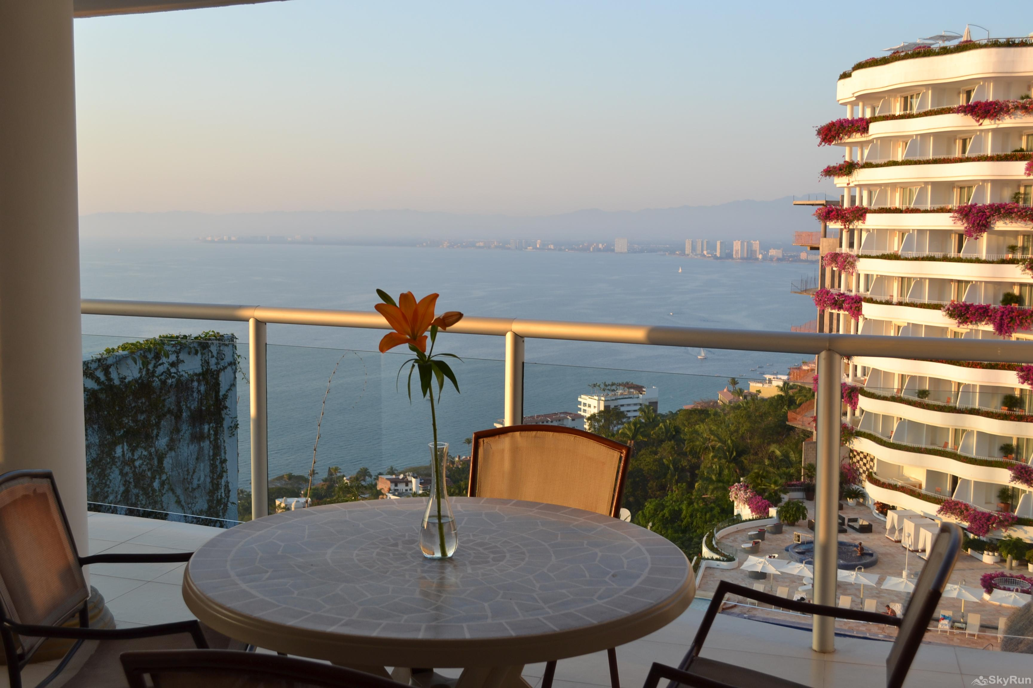 Spectacular Ocean View 1br with Outdoor Pool, balcony!  PV at it's finest Best Balcony view ever in Puerto Vallarta